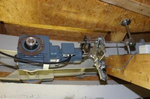 Ein Motor mit 180 Watt reicht, um das Drehhaus zu drehen. Bild: Gerhard Bäurle