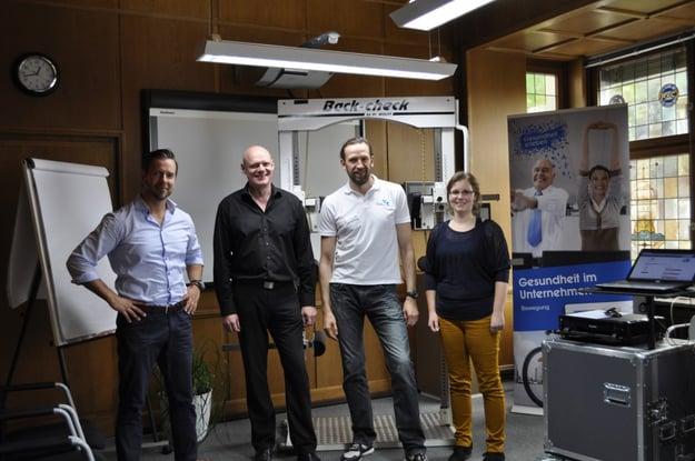 André Zoladkiewicz (TK), Michael Böck (Geschäftsführer tci), Sergej Dornhof (IPN www.ipn.eu/index.html und Inge Olbrich (Buchhaltung tci -  sorgte für den reibungslosen Ablauf)