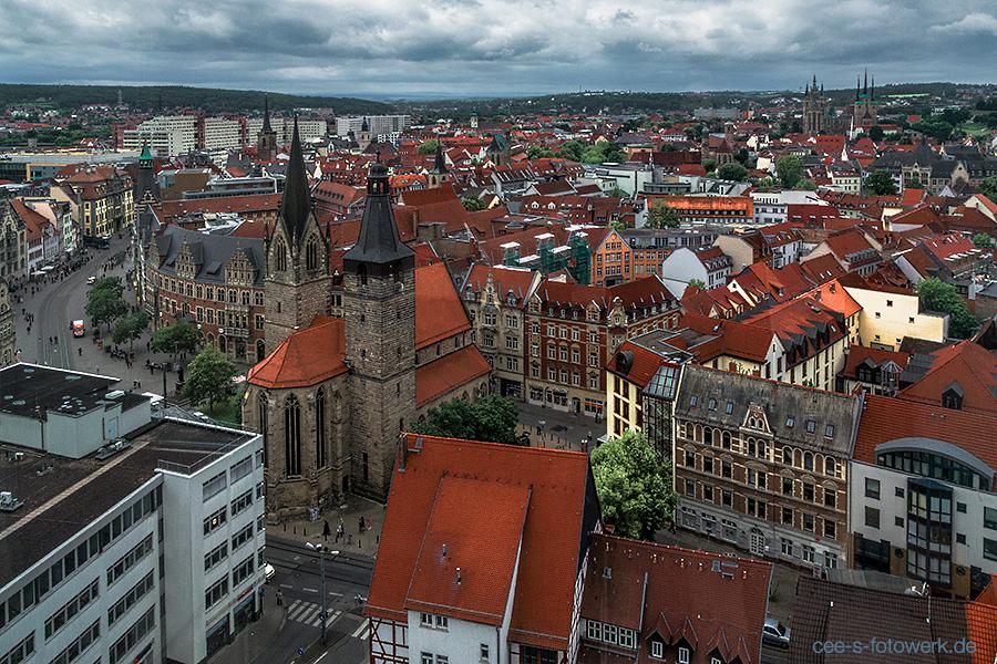 Erfurt von oben. Foto: Cora Baranowski