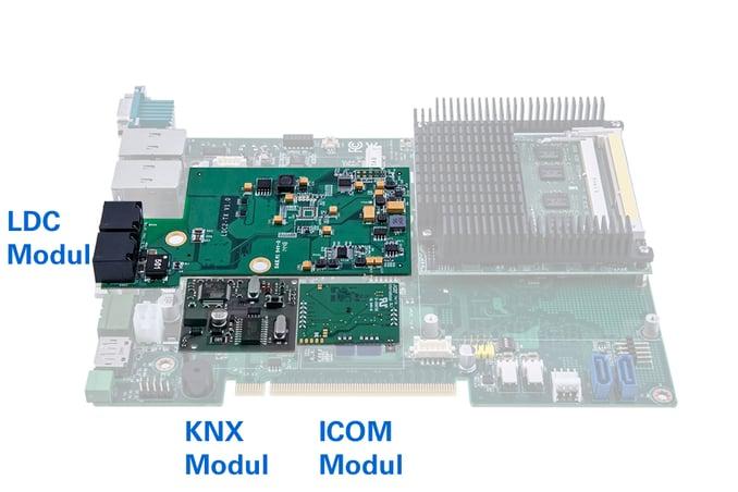 tci-Basebord mit kabelfreiem Systemaufbau.