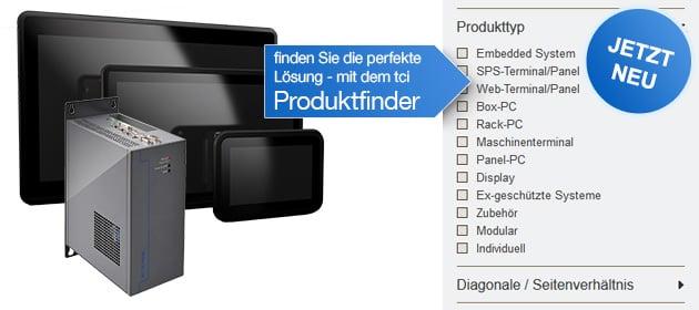 Produktfinder für Industrie Computer. Bild: tci GmbH