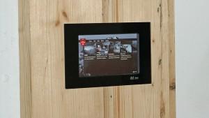 Jedes Zimmer in TheDom ist mit einem Touch-Panel ausgestattet.