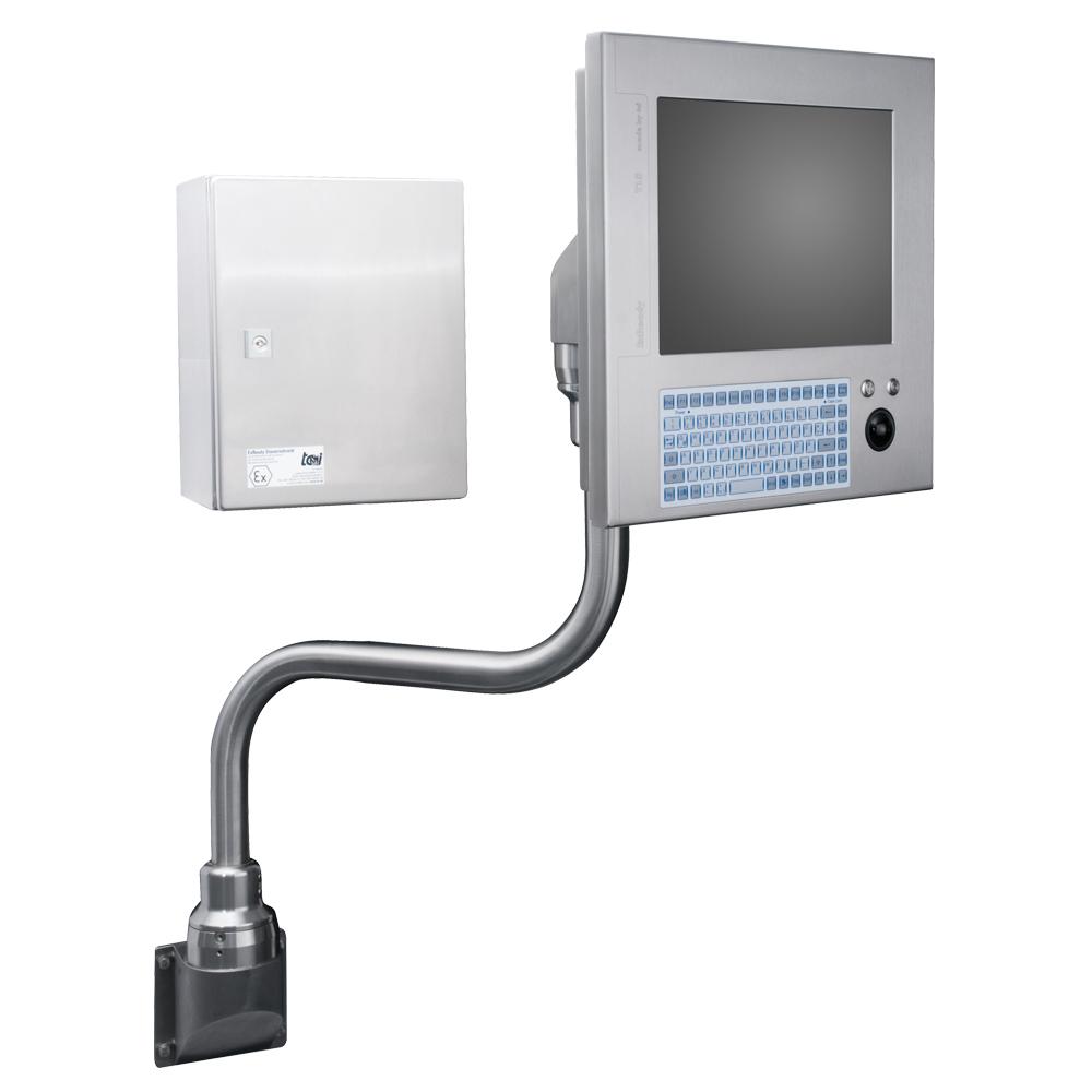 Panel-PC mit Überdruck-Kapselung für für Ex-Zonen. Bild: tci GmbH
