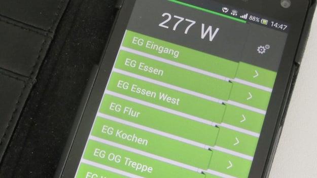 digitalSTROM-App ermöglicht die Bedienung des Smart Home von unterwegs. Bild: Gerhard Bäurle.