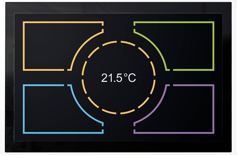 luna – Design Multitouch Panels von 7 bis 22 Zoll. Bild: tci GmbH