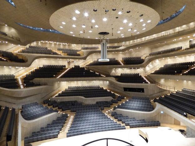 Großer Konzertsaal der Elbphilharmonie. Foto: Dirk Beyer