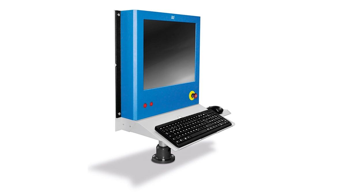 Industrie-PCs: Die robusten Kunststoffgehäuse sind leicht gebaut und in verschiedenen Farben realisierbar. Bild tci GmbH