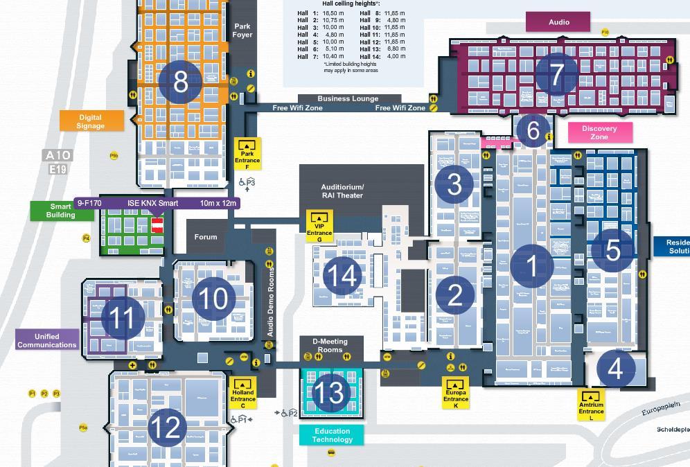 tci ist auf dem KNX-Gemeinschaftsstand in Halle 9 (grün) Bild: Integrated Systems Events, Thomas Krackl.